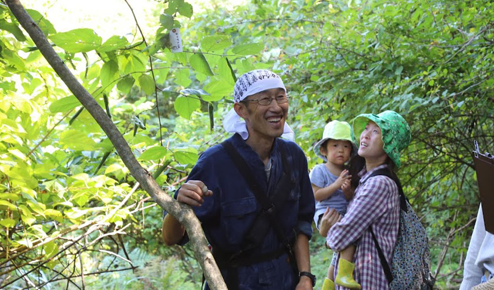 代表の河内山さん。里山生活学校はスタッフ11人と会員約50名で活動をしています。