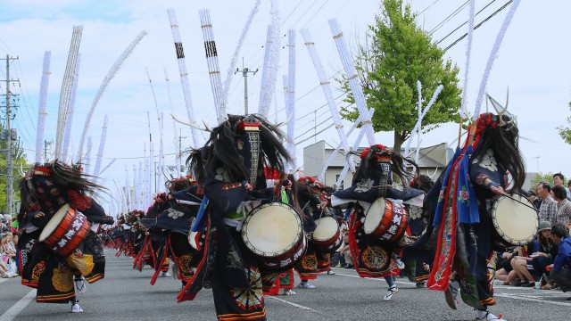 江刺甚句祭り鹿踊