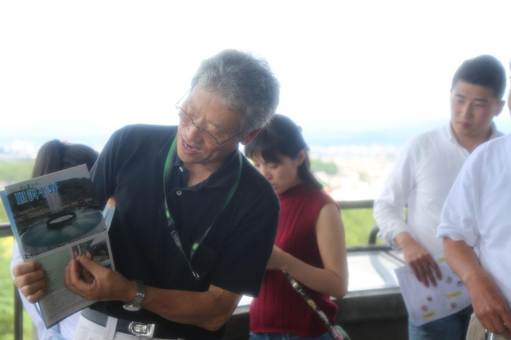 無農薬、減農薬でお米作りに取り組む農事組合法人アグリ笹森の事務局長の織田義信さん。