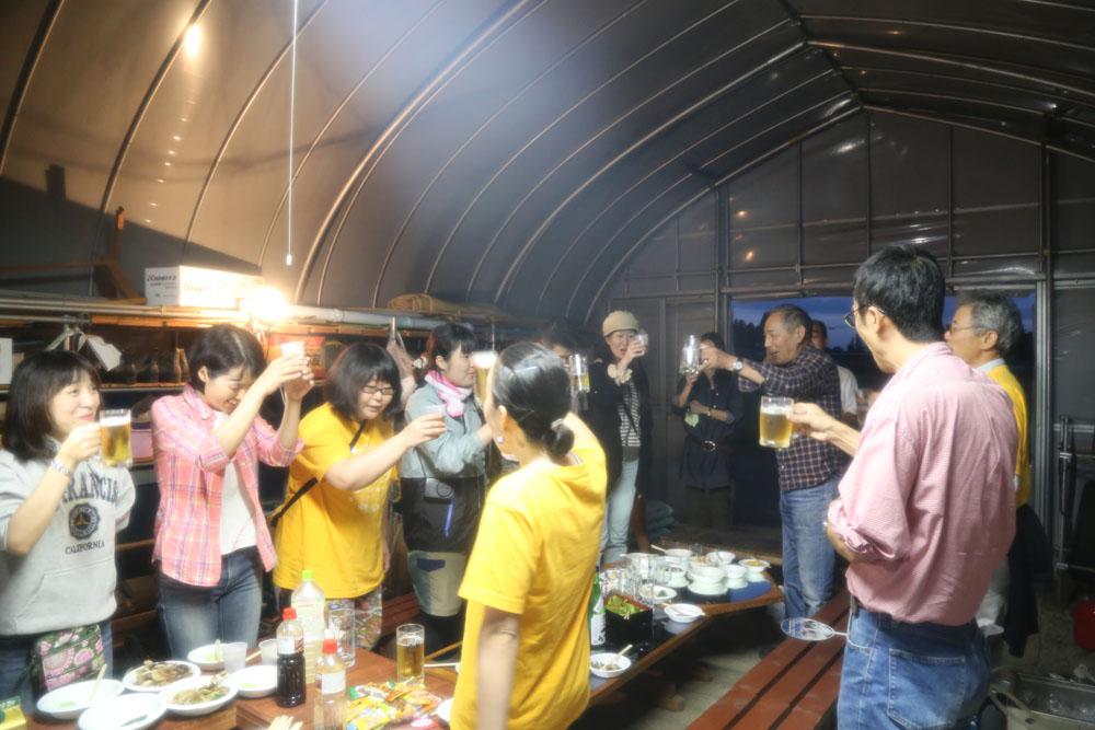 阿部さん宅ではアグリ笹森の方々がおもてなししてくださいました!