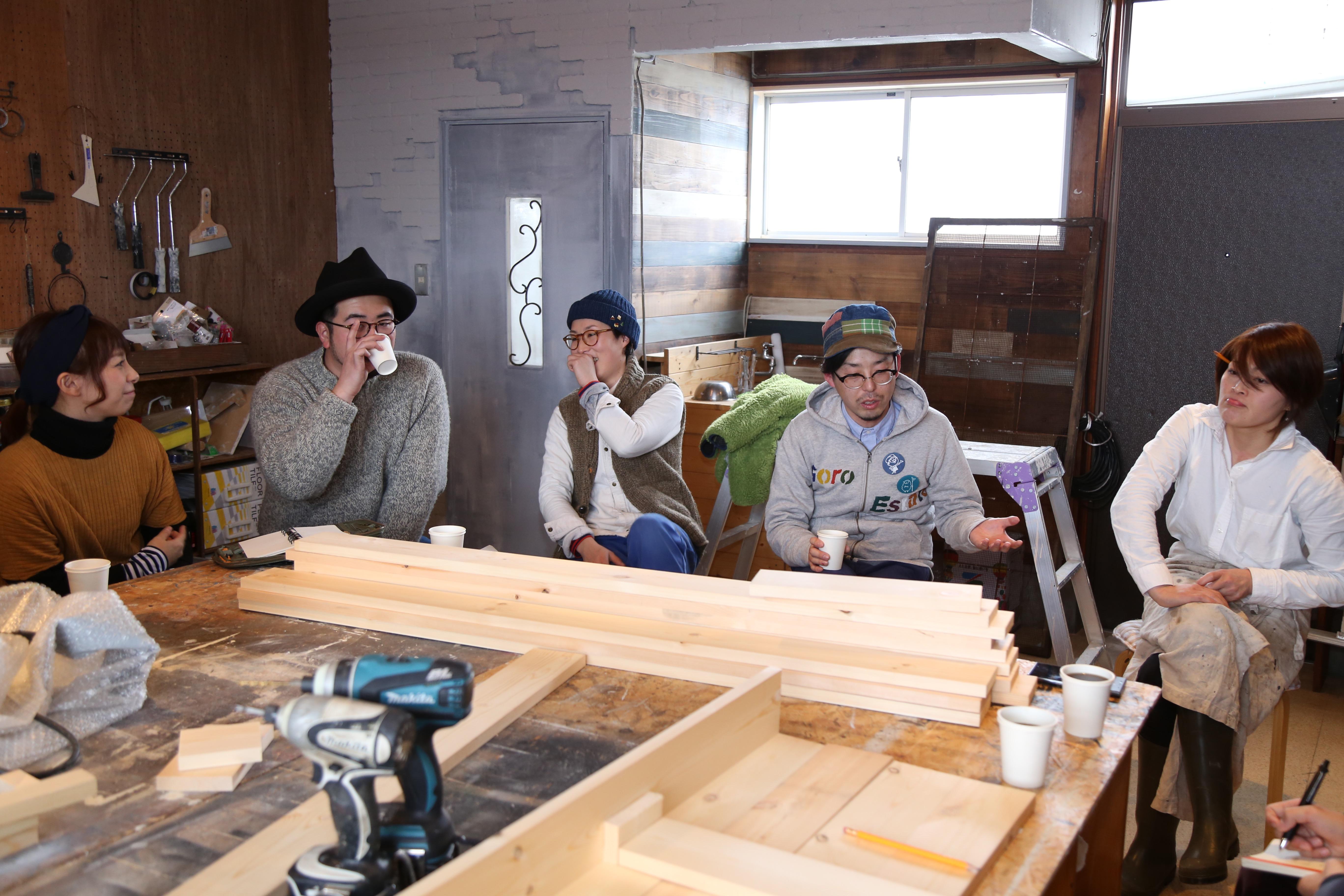 思いに共感した、アパレル店員や庭師、木工クラフターなど様々な職種のメンバーたちが集まっています。